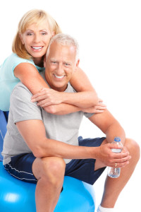 elderly couple workout